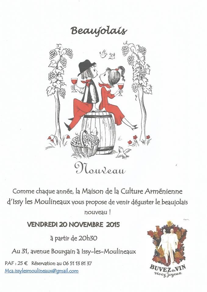 Beaujolais Nouveau 2015 de la MCA