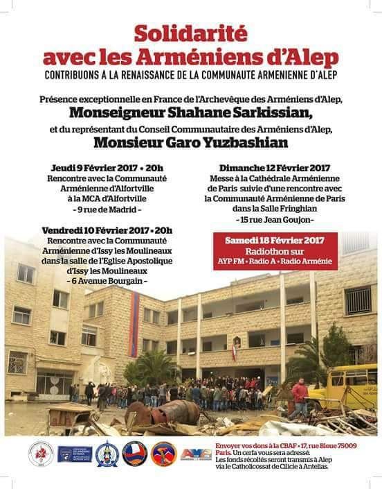Solidarité avec les Arméniens d'Alep